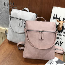 Vintage Women Backpack Leather Rivet School Backpacks For Teenage Girls Large Travel Shoulder Bags mochila Black 2020 XA999H(China)