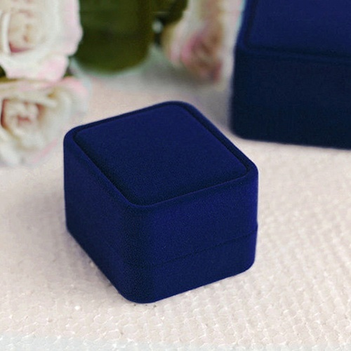 Hot New Fashion Jewelry Earring Ring Display Storage Organizer Square Lid Open Box Case image