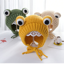 Bomber-Hats Knitted Boys Winter Warm Newborn Soft for Girls 6-24 Baby Months