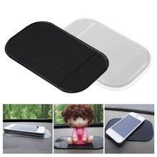 1 Pza 13,8x7,8 cm salpicadero del coche almohadilla adhesiva Gel de sílice fuerte almohadilla de succión titular antideslizante Mat para los accesorios del coche del teléfono móvil caliente