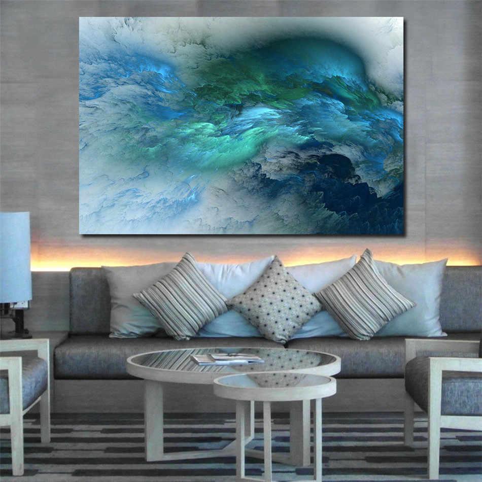 Sea WAVE ภูมิทัศน์น้ำมันภาพวาด Photo Wall Art โปสเตอร์พิมพ์ผ้าใบสำหรับห้องนั่งเล่นห้องนอนตกแต่งบ้าน