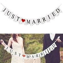 Just Married แบนเนอร์ MR MRS Rustic Garland งานแต่งงานเจ้าบ่าวเจ้าสาวบอลลูนแบนเนอร์ Bachelorette PARTY Supplies