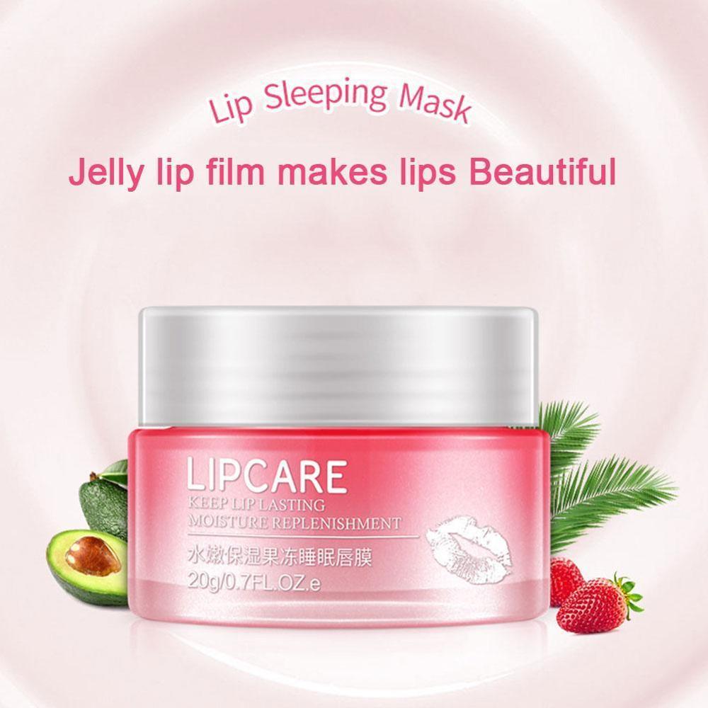 Lip Sleeping Mask Exfoliator Lips Balm Moisturizer Nourish Lip Plumper Enhancer Vitamin Skin Care Night Cream