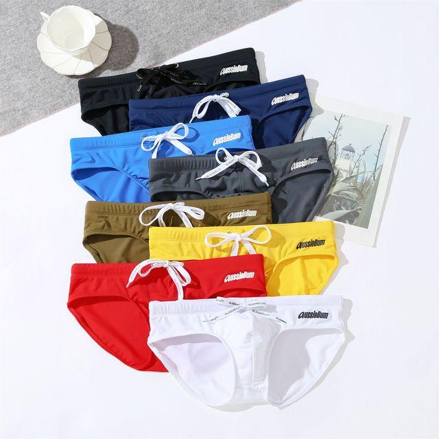 Aussiebum men's low-waisted elastic comfort tide sexy swimming trunks swimwear men  underwear swimwear briefs jockstrap swimwear 1