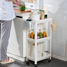Kitchen Bathroom Trolley Floor Shelf Organizer Drainer Rack 3 Tiers Folding Cart Storage Rack Rolling Cart Storage with Wheels