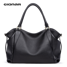 GIONAR Genuine Leather Bag Women Famous Brand Luxury Handbags Designer 2020 Crossbody Shoulder Work Bag Over the Shoulder