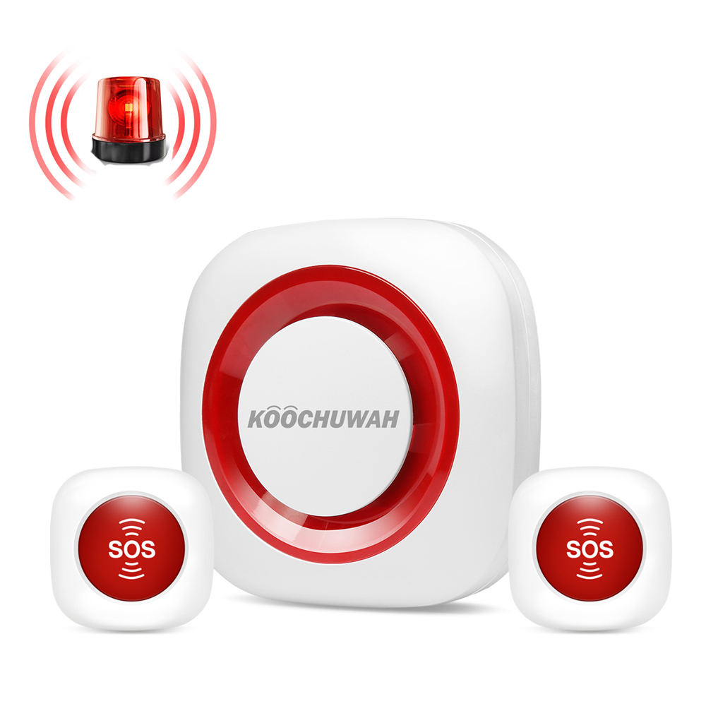 Wireless SOS Panic Button Alarm System Emergency Help Alarm System Security Home For Old People Disable 90db Loud Sound Alarm