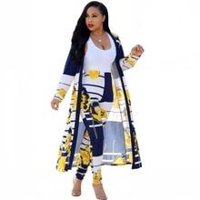 2 조각 새로운 아프리카 인쇄 탄성 Bazin 바지 바지 락 스타일 대시 키 슬리브 유명 정장 여성 코트와 레깅스 2pcs/se