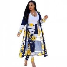 2 pezzi New African Stampa Elastico Bazin Baggy Pantaloni di Stile della Roccia Dashiki Famosi Manica del Vestito Per Le Donne Cappotto E Leggings 2pcs/se