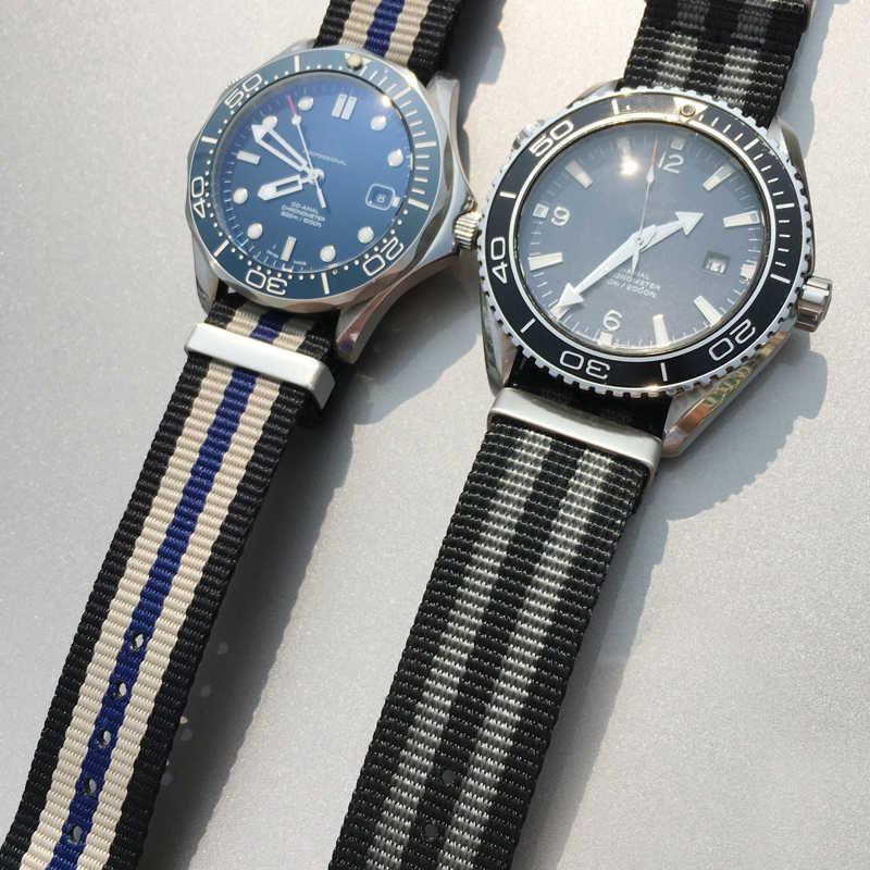 Correa especial para reloj Omega Seamaster 007, de 19/20/21/22mm, No sacudir, nailon, IWC, Pilot, Seiko