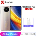 Глобальная версия POCO X3 Pro 6ГБ ОЗУ 128ГБ ПЗУ / 8ГБ ОЗУ 256ГБ ПЗУ Мобильный телефон Snapdragon 860 120Гц DotDisplay 5160мАч 33W NFC
