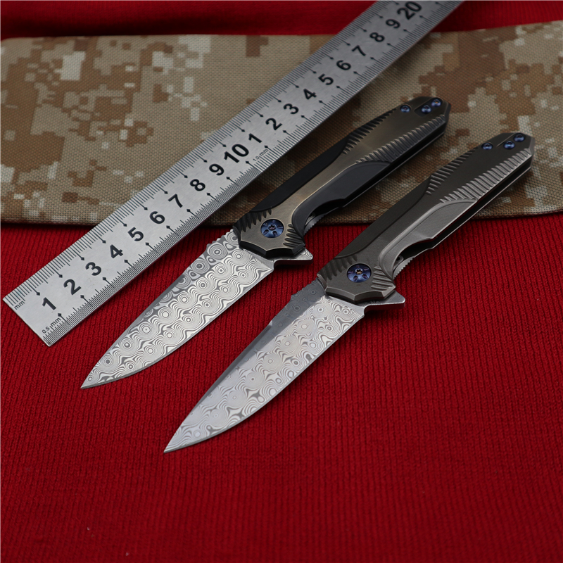 TIGEND  Hunting straight knife tactical knife fixed knife survival knife camping rescue knife tool folding knife Damascus Knife