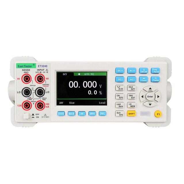ET3240 Automatico 22000 Conti Multimetro Da Banco Digitale con 3.5 Pollici TFT di Grandi Dimensioni Dello Schermo di Alta Precisione Del Desktop Multimetro