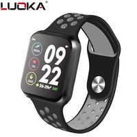 Luoka f9 relógio inteligente ip67 à prova dip67 água 15 dias de longa espera freqüência cardíaca pressão arterial smartwatch suporte ios android