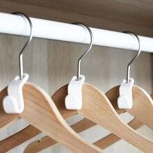 6 piezas de guardarropa de almacenamiento de espacio colgador gancho multifunción gancho de abrigo de plástico armario colgador para dormitorio organizador de almacenamiento