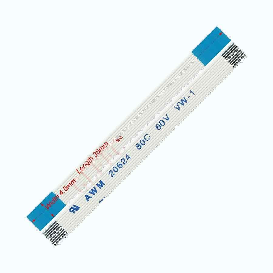 Câble plat Flexible de type A du lancement 35mm-0.5mm de 7pin 250 FFC awm 20624 ROHS pour l'ordinateur de DVD d'affichage à cristaux liquides de TTL