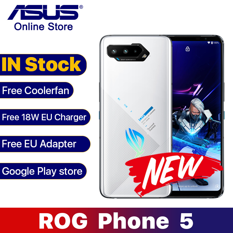 Глобальный Встроенная память ASUS ROG 5 5G игровой телефон 16GB 256GB смартфон 6,78 дюймов AMOLED Экран 144 Гц Восьмиядерный 6000 мА/ч, тенцент версия