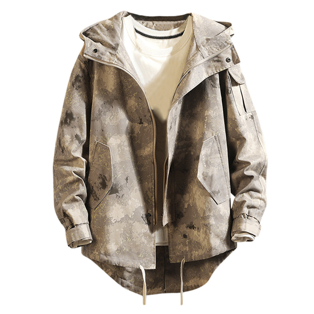 H4717ef4143954a38aa50b80ba0f0eac2Z - Casual Tops Plus Size  Fashion Fashion Men's Autumn Winter Solid Casual Long Sleeve Jacket Coat  wo man
