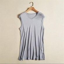 Seda-Tops de Seda 70% para hombre, camisetas de Seda fina para hombre, Top de punto elástico transpirable, Seda, caleco, 70%