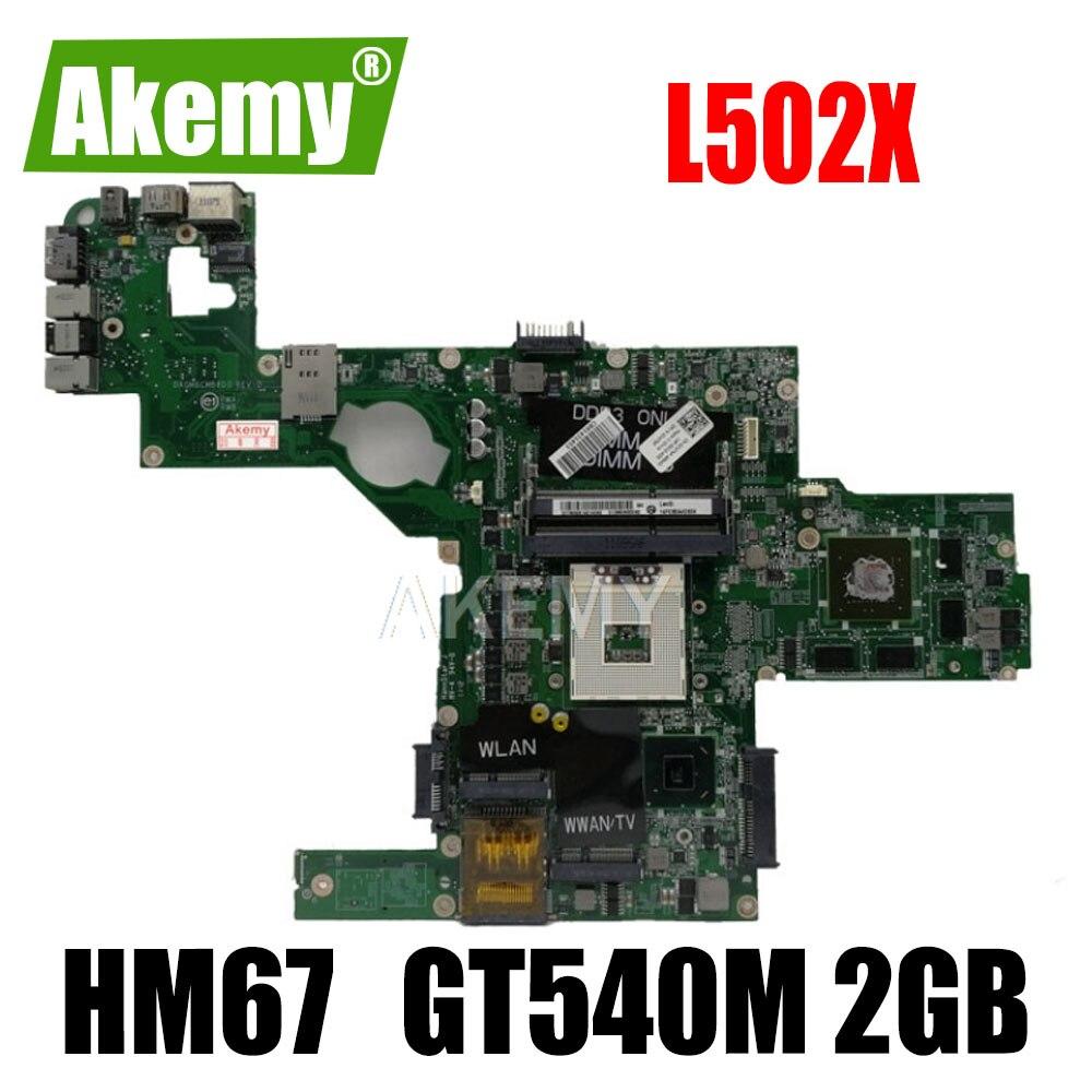 Материнская плата Akemy 714WC 0714WC DAGM6CMB8D0, материнская плата s989 для Dell XPS L502X, материнская плата HM67 w/ GT 540M, работает 2 Гб