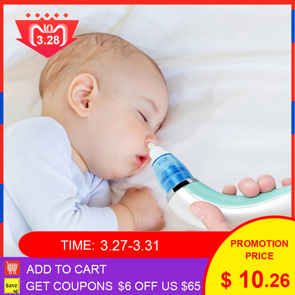 Baby Electric Nasal Aspirator Nose Snot Cleaner Suction For Newborn Infant Toddler Adjustable Electric Nasal Aspirator For Baby
