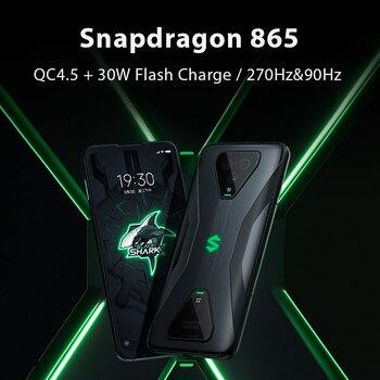 Global Version Black Shark 3 5G Snapdragon 865 8GB 128GB Game Phone Octa Core 64MP Triple AI Cameras 65W 4720mAh 2