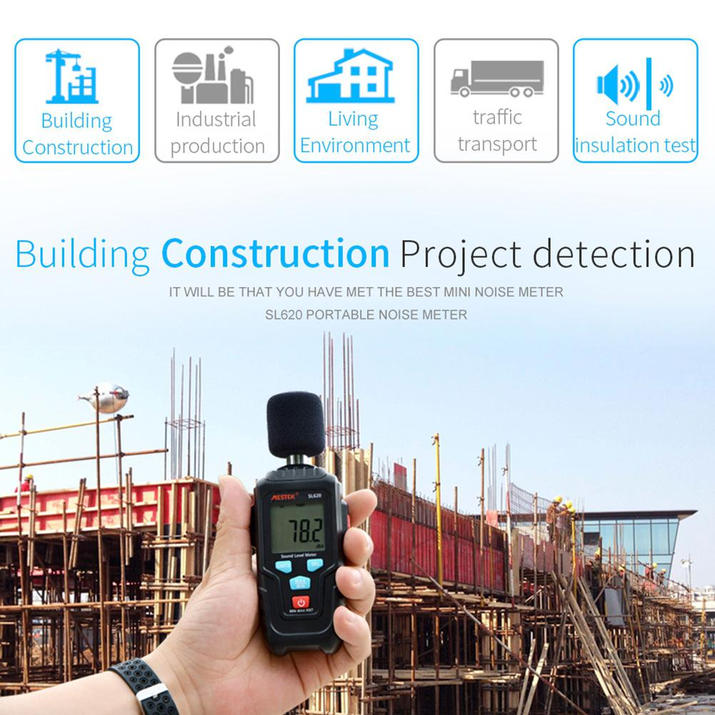 MESTEK Decibel Meter Sound Level Meter Logger 30-135dB Noise Measurement Audio Level Detector Diagnostic Tool SL620