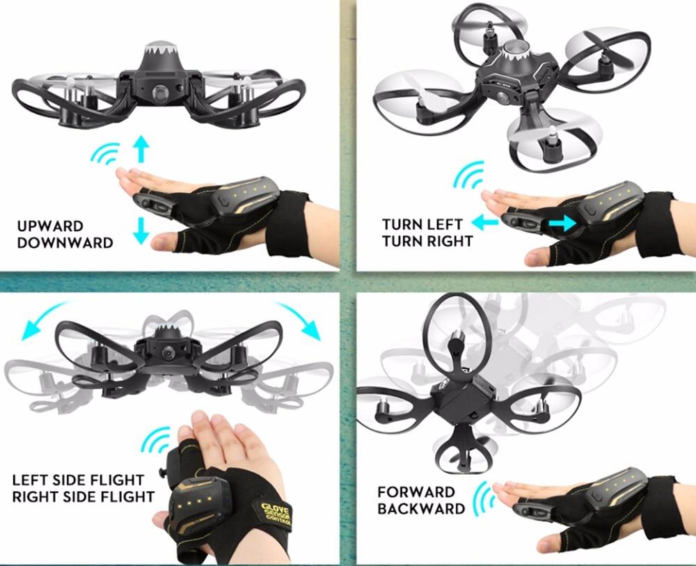 Mini RC Hand Sensor Quadcopter Drone with 480P Camera 11