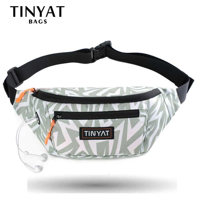 TINYAT ผู้หญิงเอวกระเป๋าแพ็คโบฮีเมียพิมพ์สาวสำหรับโทรศัพท์เงิน Casual กระเป๋าสำหรับเข็มขัด 4 กระเป๋าเข็มขัดกระเป๋า