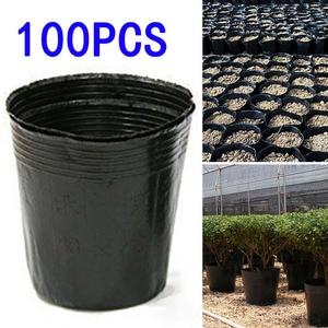 100Pcs Flower Pot Plastic Nurs