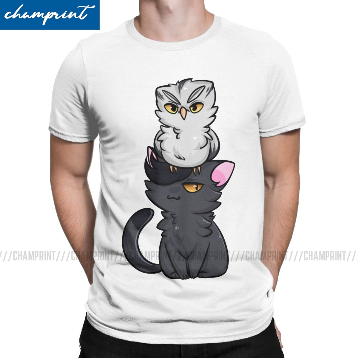owl and pussycat t shirt men haikyuu anime bokuto volleyball manga funny pure cotton tees round collar t shirts new arrival tops