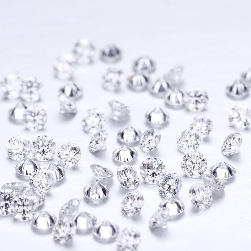 1ct/pack 3mm DEF couleur VS clarté en vrac laboratoire cultivé HPHT diamant pour la fabrication de bijoux
