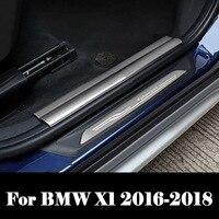 Exterior traseiro do carro pára-choques protetor tronco porta capa para bmw x1 2016 2017 2018