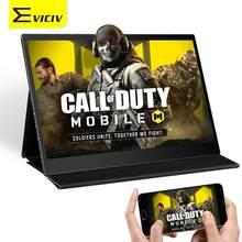 EVICIV 13,3 Zoll 10 Punkt TouchScreen Tragbare Monitor 60Hz 16:9 Typ C 1080P FHD Display Spielen Mobilen Anruf von Duty In Großen Bildschirm
