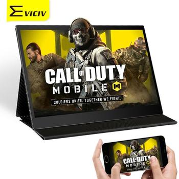 EVICIV 13.3 Inch 10 Point TouchScreen Portable Monitor 60Hz 16:9 Type C 1080P FHD Display Play Mobile Call Of Duty In Big Screen