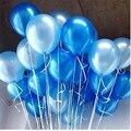 50/100 шт 10 дюймов 1,5 г синий золотой белый черный розовый уплотненные жемчужные латексные воздушные шары, воздушные шары для свадебной вечери...