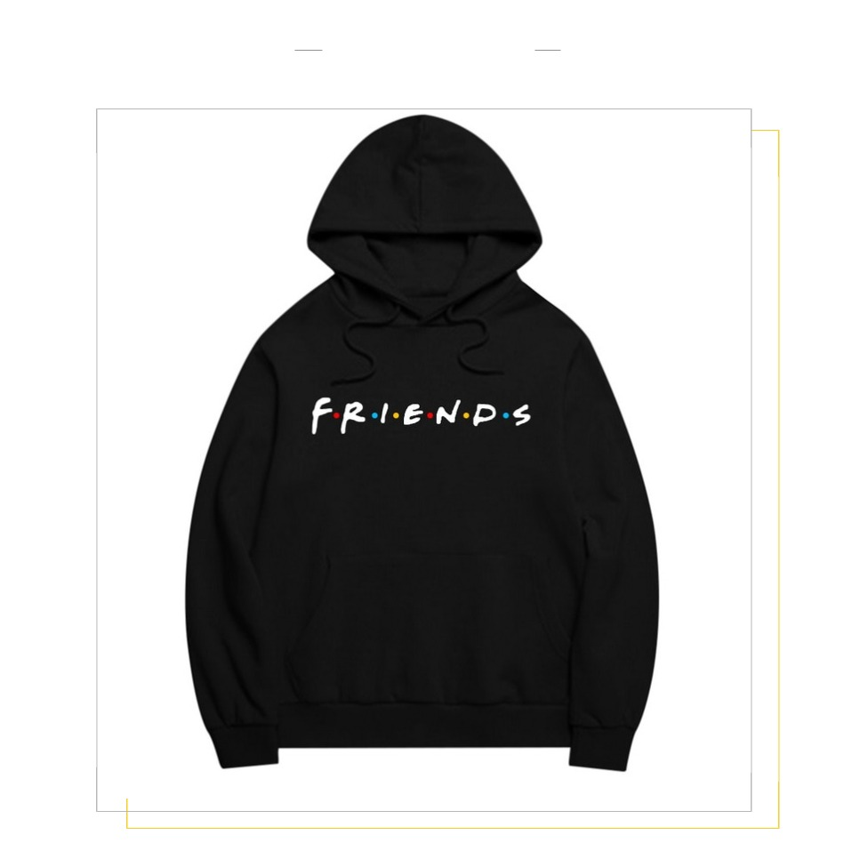Women Friends Hoodies Harajuku Letters Print Pocket Warm Thicken Pullovers Hip Hop Loose Solid Female Sweatshirts 6