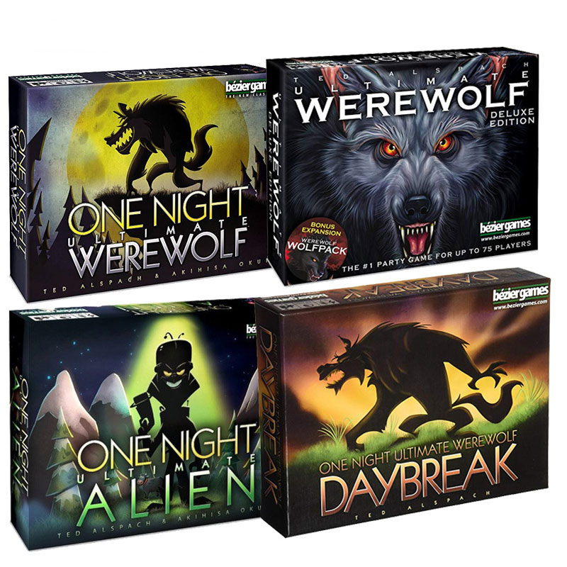 One Night Ultimate Werewolf Alien Board Games Werewolves Family Interactive Vampire Toy Gift English Version Cards Game