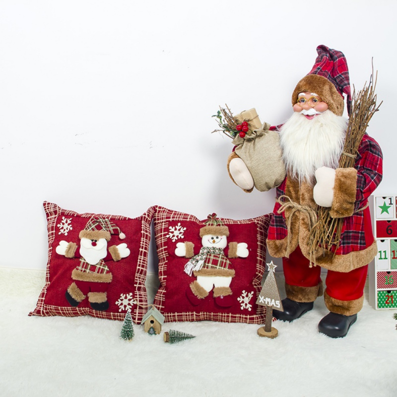 Drop Shipping Christmas Pillow Santa Cluas Snowman Doll Cushion Rudolph Stereo Pillow  Gift Supplies Decoration For Home