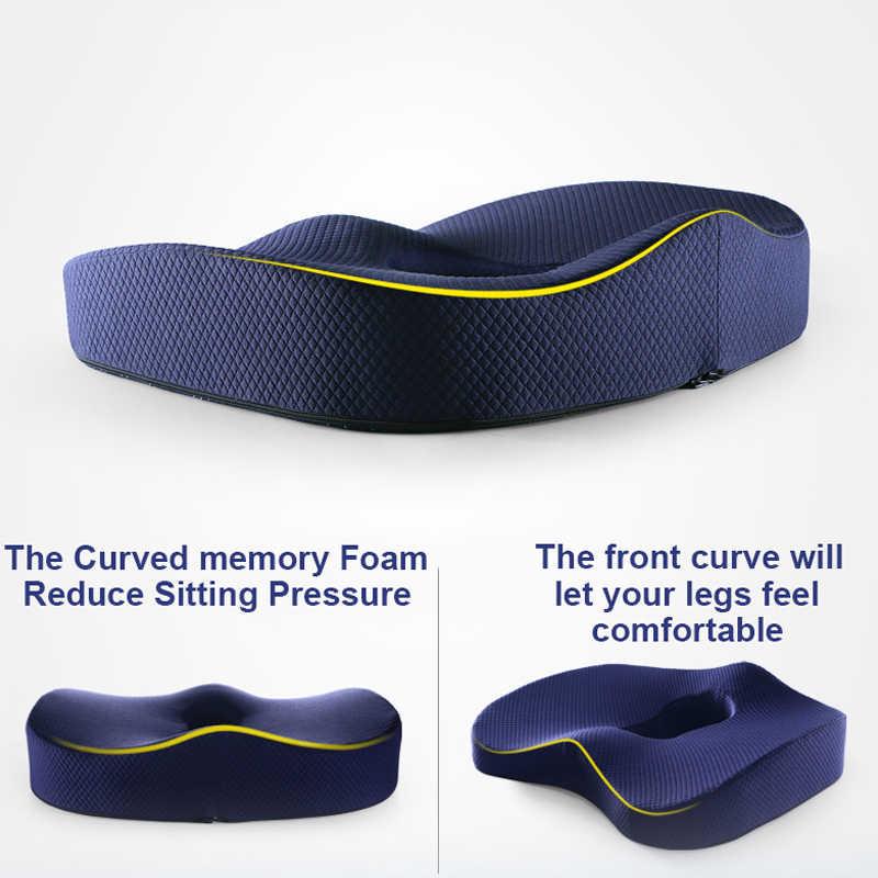 Pamięć piankowa poduszka do siedzenia poduszka ortopedyczna Coccyx Office poduszka na krzesło wsparcie talia poduszka pod plecy fotelik samochodowy Hip podkładka do masażu zestawy