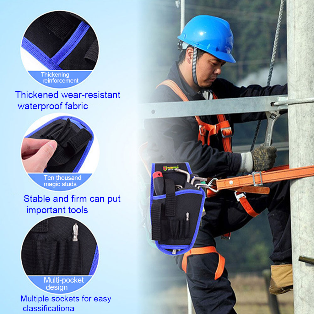 Portable Electrician Tool Pouch Bag Impact Driver Drill Holster Electric Cordless Drill Holder Waist Tool Bag Without Waist Belt