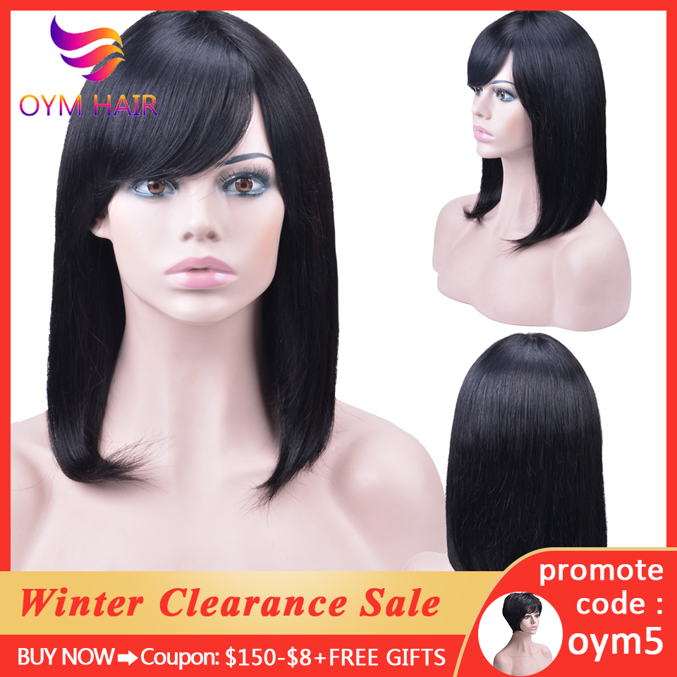 Malaysian Straight Short Human Hair Wigs With Baby Hair Bob Wig Human Hair Wigs For Black Women Free Shipping