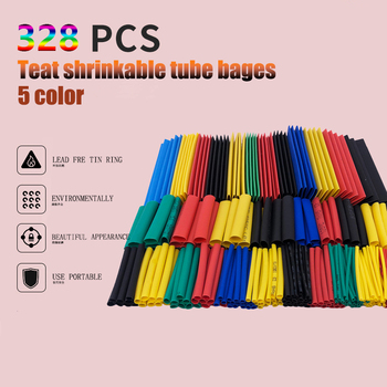 цена на Heat Shrink Tube Able Sleeve Tubing Polyolefin Tube Heat Shrinkable Tube Insulated SleevingThermoresistant Tube Electrical Cable
