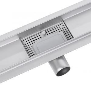 Image 5 - Banyo zemin drenaj 500MM/600MM/700MM/800MM/900MM paslanmaz çelik kiremit eklemek doğrusal uzun duş ızgarası karo drenaj aracı