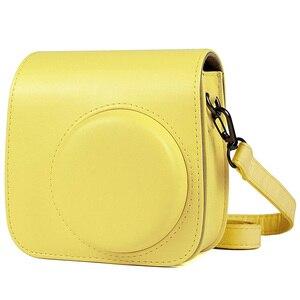 Image 2 - Kaliteli PU deri kamera çantası Fujifilm Instax Mini 9 Mini 8 anında Film kamera, 5 renkler koruyucu çanta omuz askısı ile