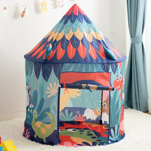 Children's Dinosaur Tent Tipi Portable Kids Teepee Indoor Outdoor Baby Camping Castle Folding Kids Play House Tent Birthday Gift