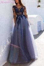 Синие платья для выпускного вечера вечернее платье de soiree