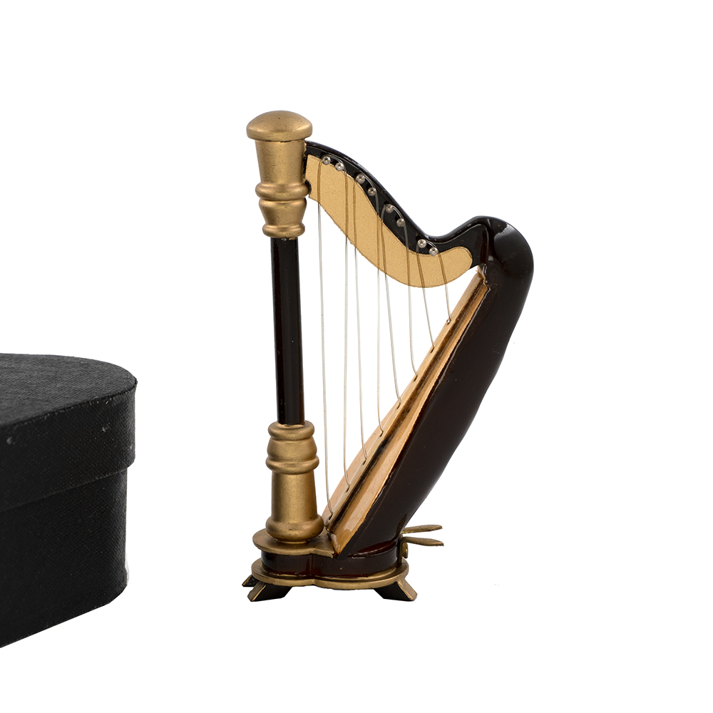 Miniatur Harfe Mini Musikinstrument Dekoration