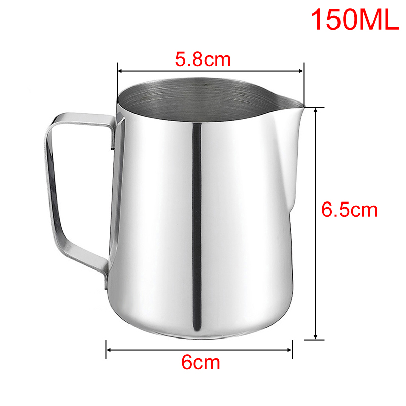 150ml Stainless Steel Latte Art Pitcher Milk Frothing Jug Espresso Coffee Mug Barista Craft Coffee Cappuccino Cups Pot tools