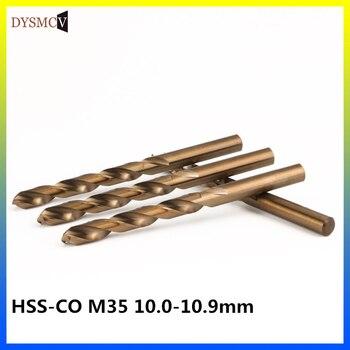 1Pcs cobalt drill bit 10.9mm M35 HSS Co steel alloys Straight Shank Twist Drill